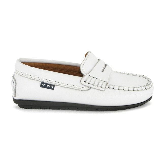 Penny Moccasins in Smooth Leather, White
