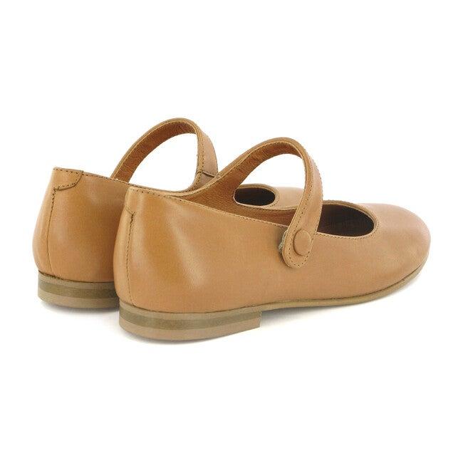 Leather Mary Jane Ballerinas, Beige