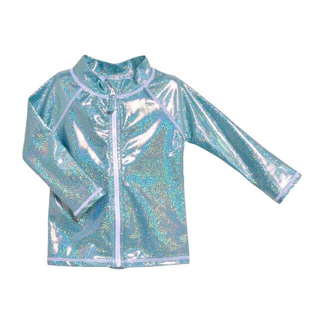 Zip Front Swim Jacket, Sea Sparkle