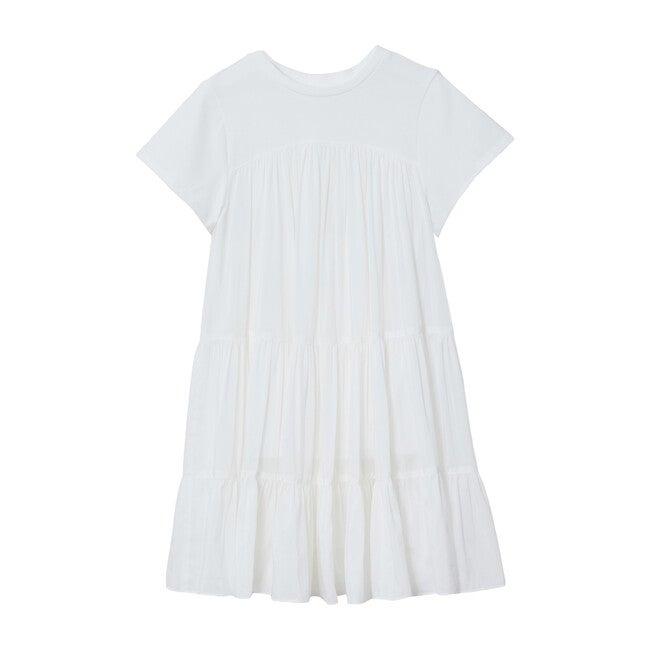 Grace 3 Tier T-Shirt Dress, White