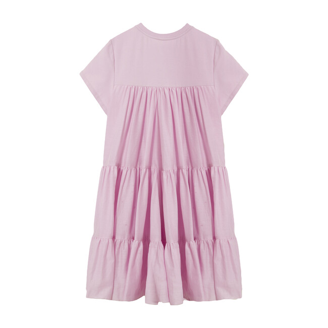 Grace 3 Tier T-Shirt Dress, Pink Tulle
