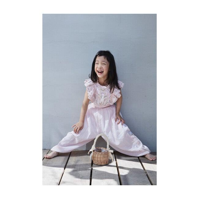 River Crinkle Embroidery Jumpsuit, Ballet Pink