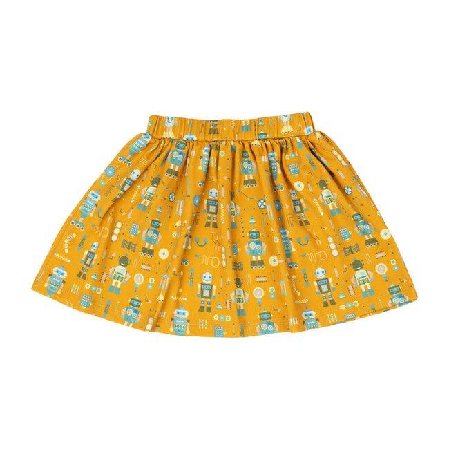 Printed Banded Skirt, Robotics