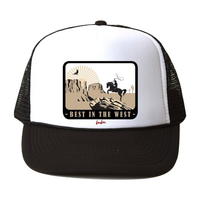 Best In The West Hat, Black and White