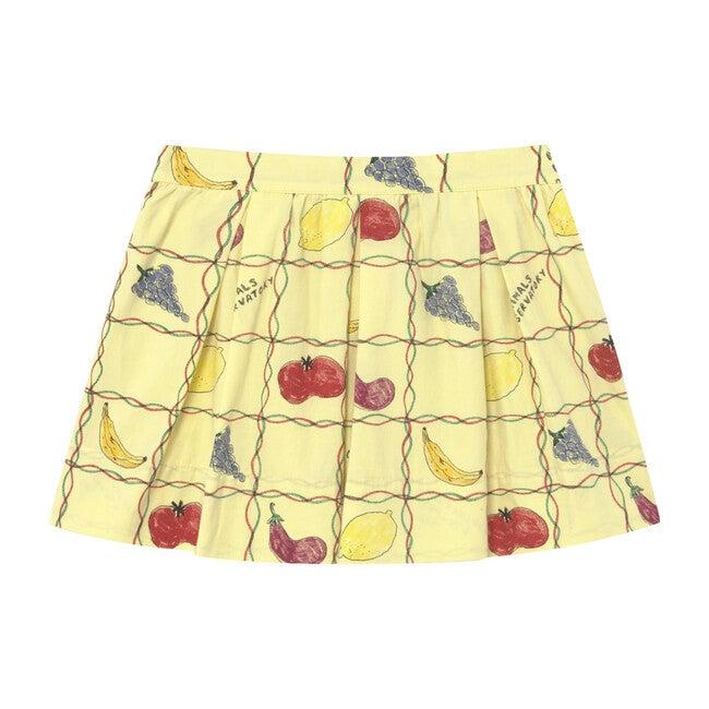 Bird Kids Skirt Soft Yellow Fruits