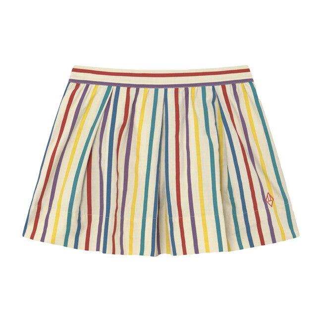 Bird Kids Skirt White, Multi Stripes