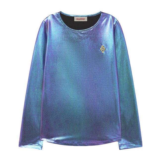 Shiny Deer Kids T-Shirt Purple Logo