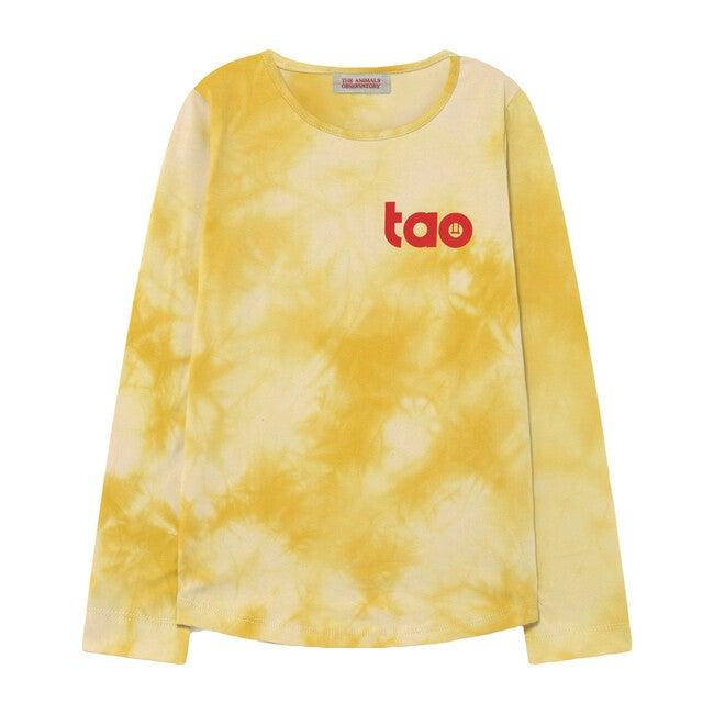 Deer Kids T-Shirt Yellow Tie Dye Tao