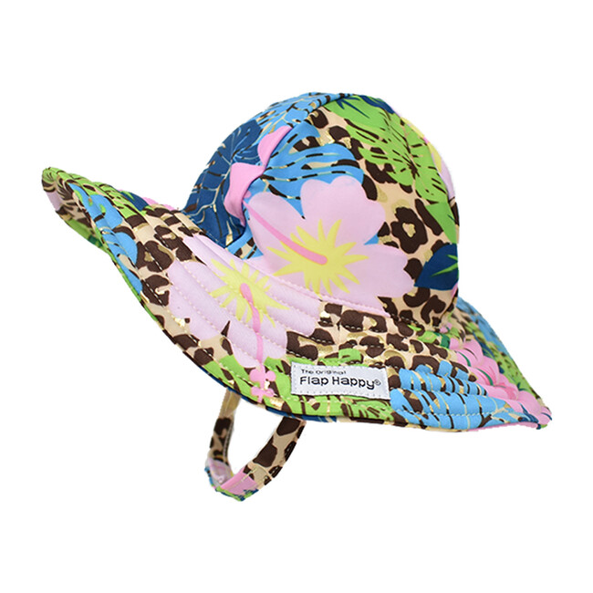 UPF 50+ Summer Splash Swim Hat, Cheetah Blooms - Hats - 1