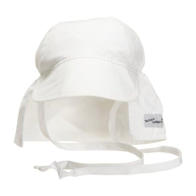 UPF 50+ Original Flap Hat with Ties, White