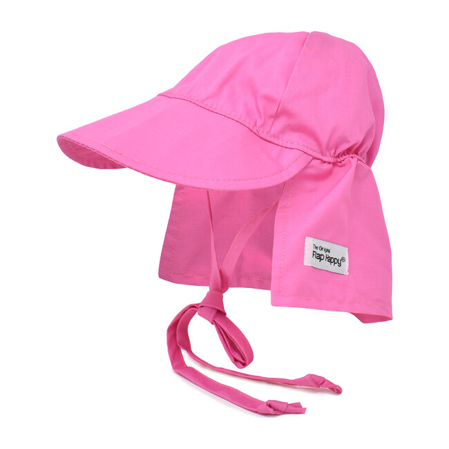 UPF 50+ Original Flap Hat with Ties, Candy Pink - Hats - 1