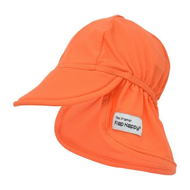 UPF 50+ Swim Flap Hat, Orange - Hats - 1