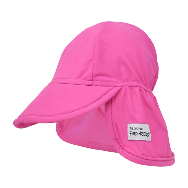 UPF 50+ Swim Flap Hat, Azalea Pink - Hats - 1