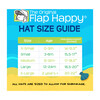 UPF 50+ Swim Flap Hat, Orange - Hats - 2