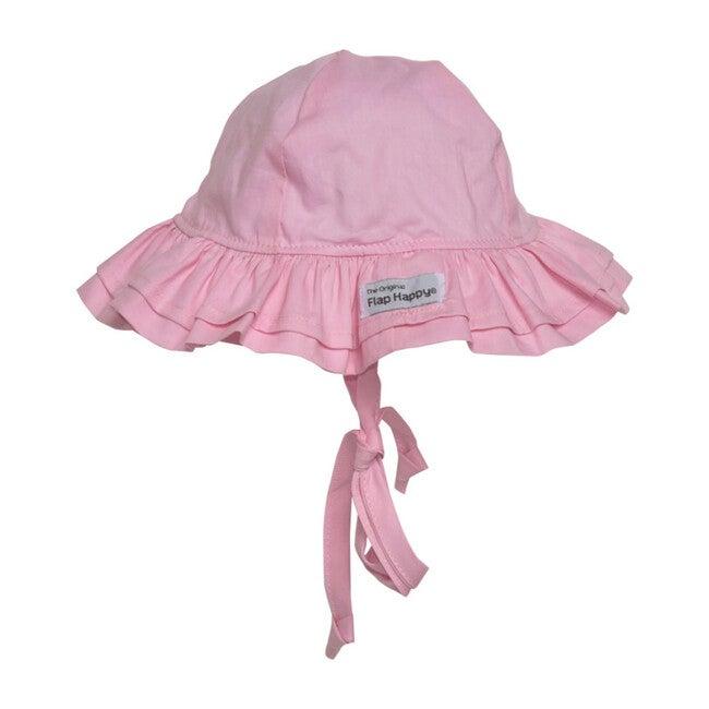 UPF 50+ Double Ruffle Hat, Pastel Pink - Hats - 1