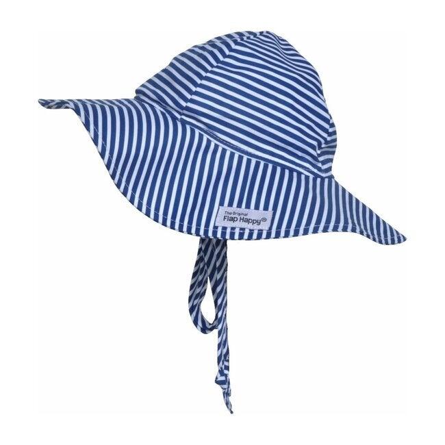 UPF 50+ Floppy Hat, Navy Preppy Stripe - Hats - 1