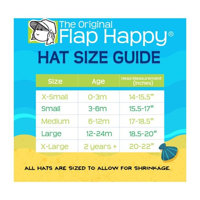 UPF 50+ Floppy Hat, Navy Preppy Stripe