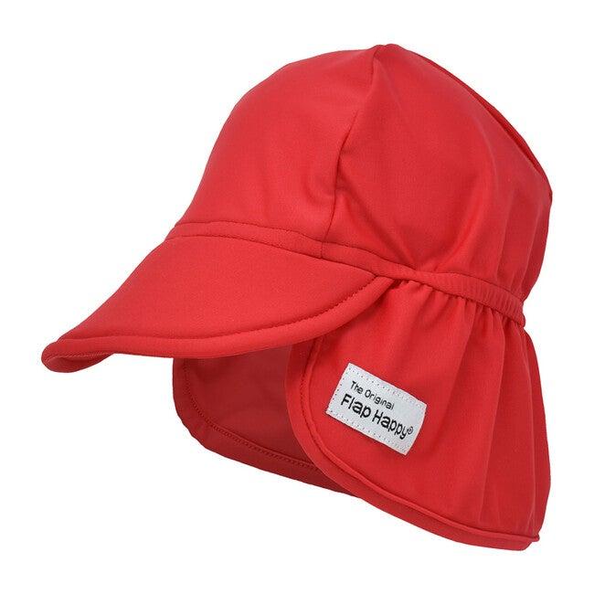 UPF 50+ Swim Flap Hat, Red