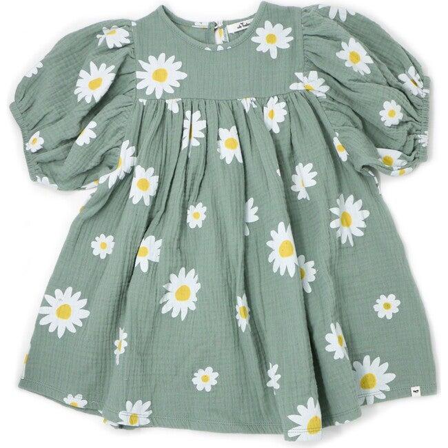 Raphael Gauze Dress, White Daisies Sea