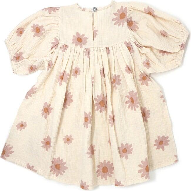 Raphael Gauze Dress, Blush Daisies Natural
