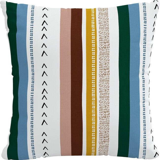 Indoor/Outdoor Decorative Pillow, Stripe Tahoe Multi