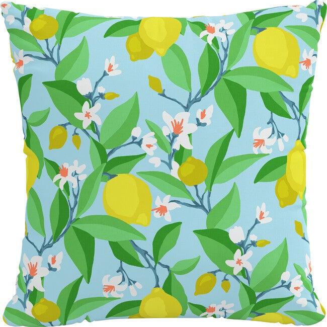 Indoor/Outdoor Decorative Pillow, Summer Citrus Blue