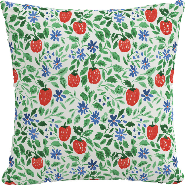 Indoor/Outdoor Decorative Pillow, Strawberry Patch Red