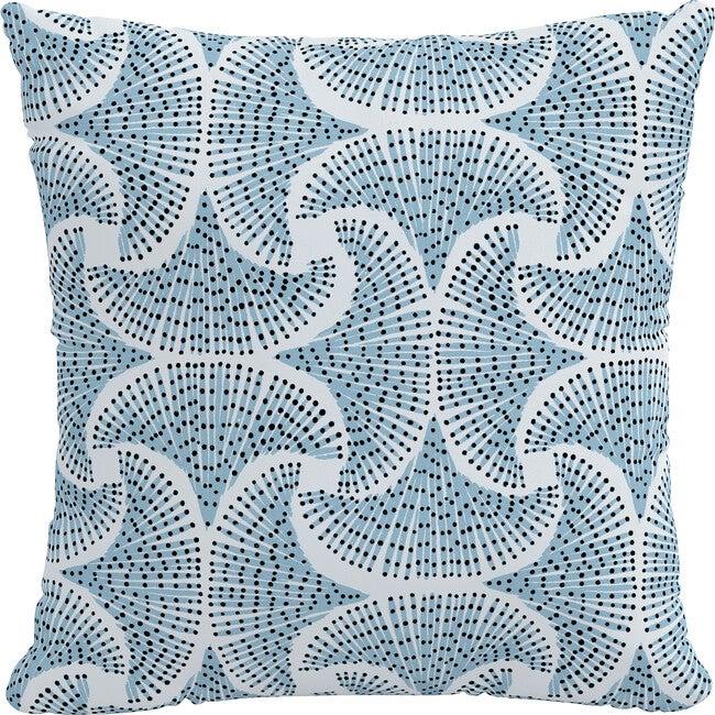 Indoor/Outdoor Decorative Pillow, Sea Fan Blue