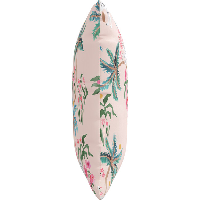 Indoor/Outdoor Decorative Pillow, Palm Leopard Blush