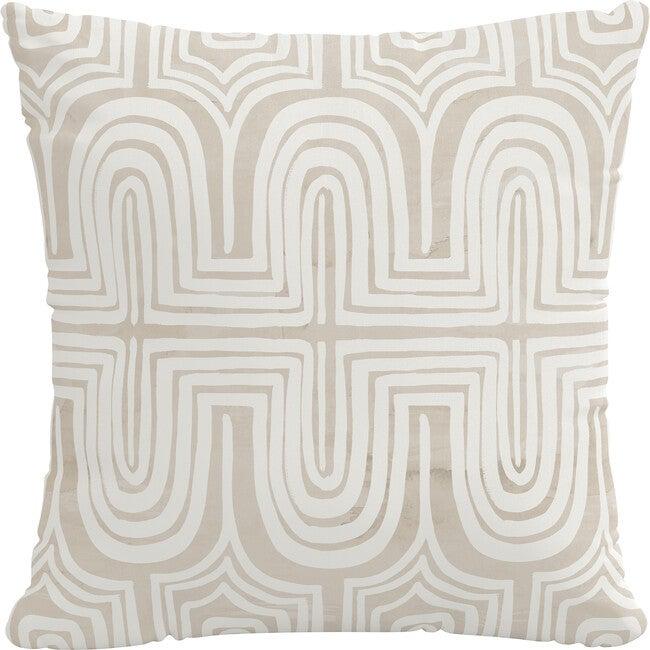 Indoor/Outdoor Decorative Pillow, Ingrid Natural