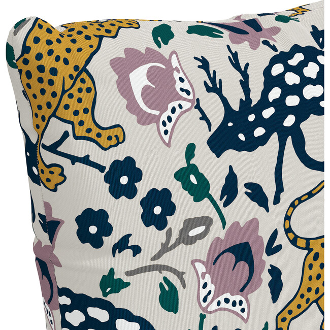 Indoor/Outdoor Decorative Pillow, Leopard Mustard Plum