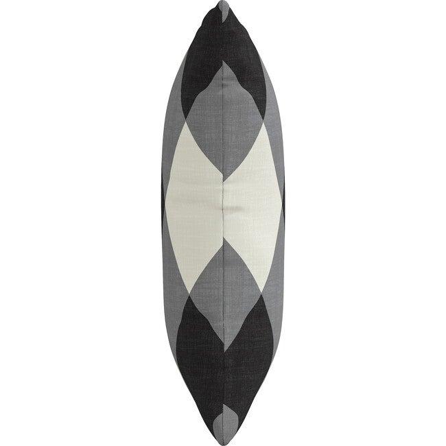 Indoor/Outdoor Decorative Pillow, Diamond Check Charcoal