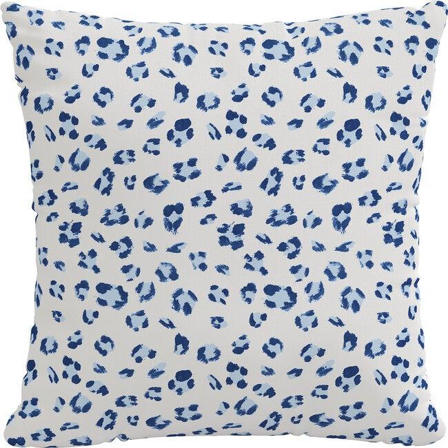 Indoor/Outdoor Decorative Pillow, Brush Cheetah Blue