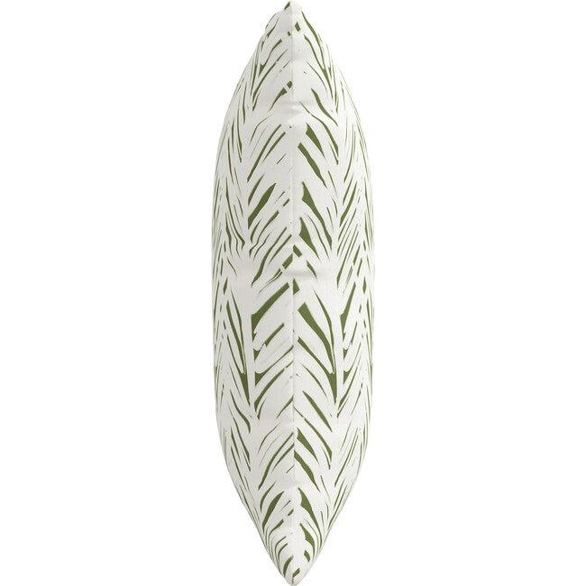 Indoor/Outdoor Decorative Pillow, Brush Palm Leaf