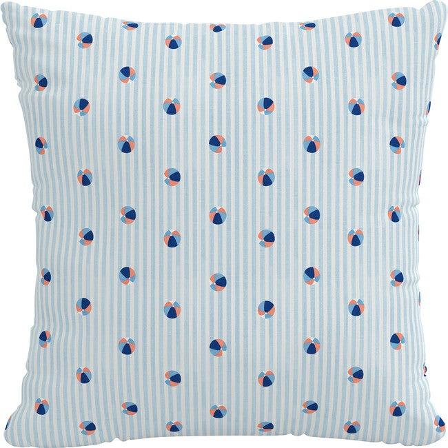 Indoor/Outdoor Decorative Pillow, Beach Ball Blue