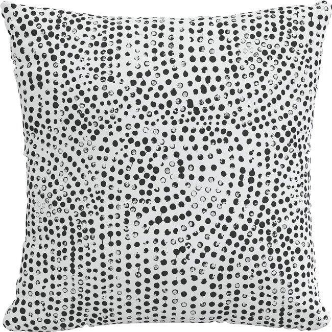 Indoor/Outdoor Decorative Pillow, Aussie Dot White