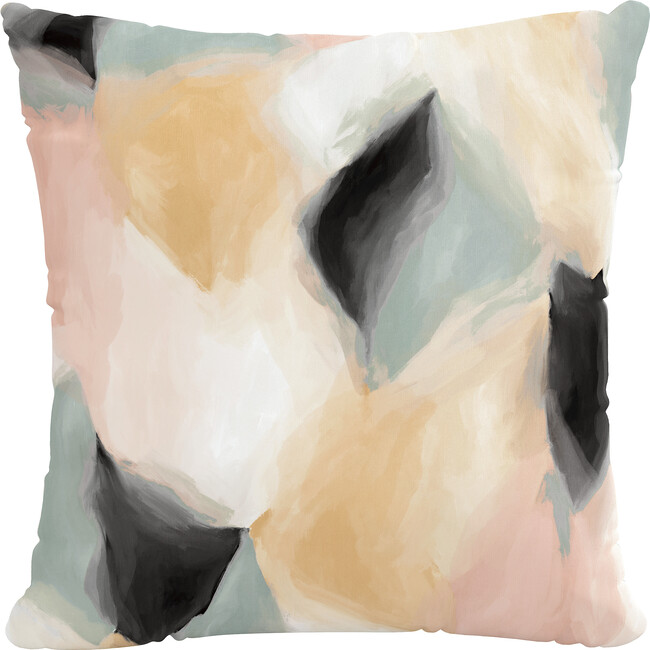 Indoor/Outdoor Decorative Pillow, Abstract Shapes Cloud