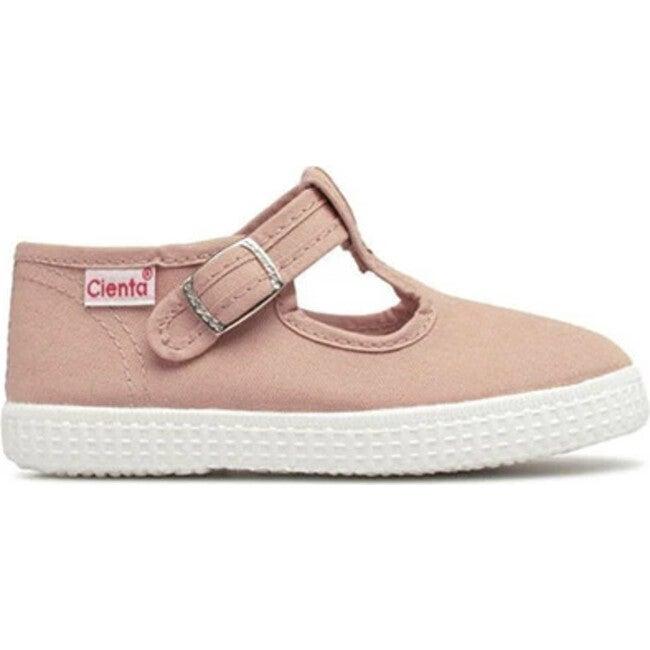 Buckle Canvas Sneakers, Old Pink - Sneakers - 1