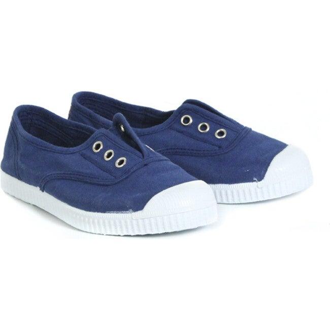 Navy Elastic Sneakers