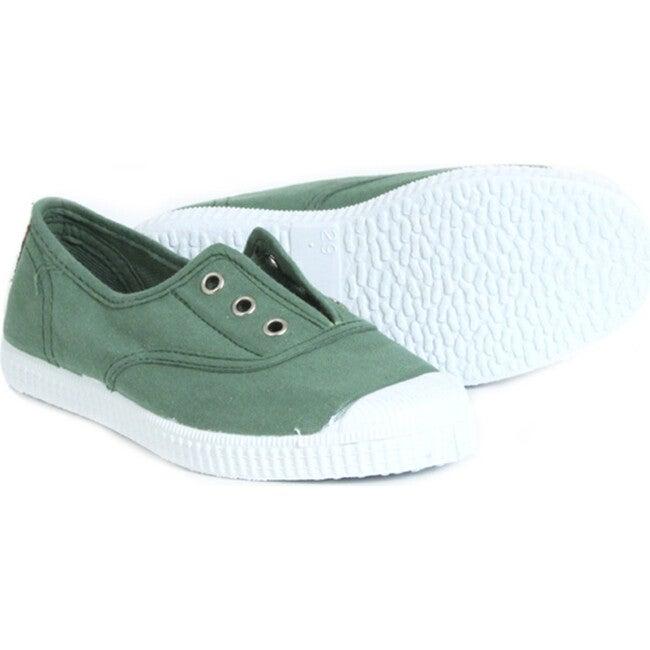Khaki Elastic Sneakers