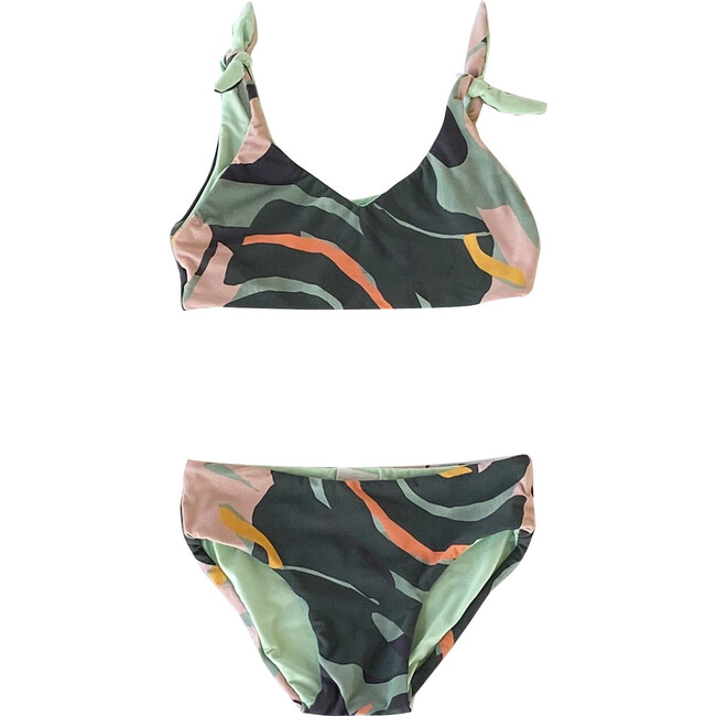 Puzzle Balazo Light Up Two Piece Swimsuit, Green