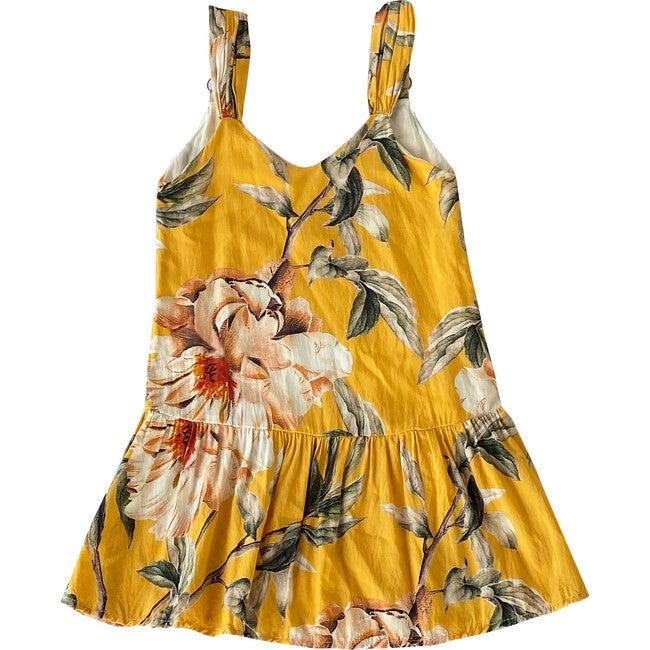Flower Flush Maggie Dress, Yellow - Cover-Ups - 1