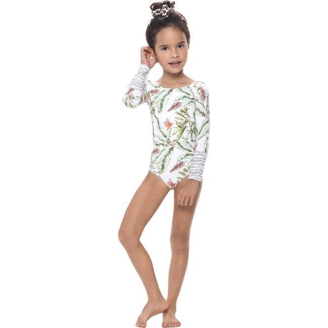 Golden Tropics Nilo One Piece Swimsuit, White