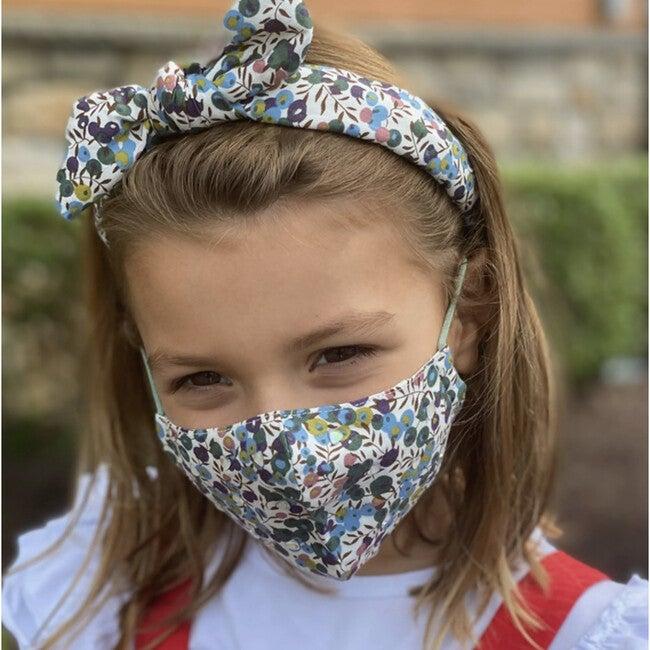 Set of 2 Kids Face masks, Embroidered Florals