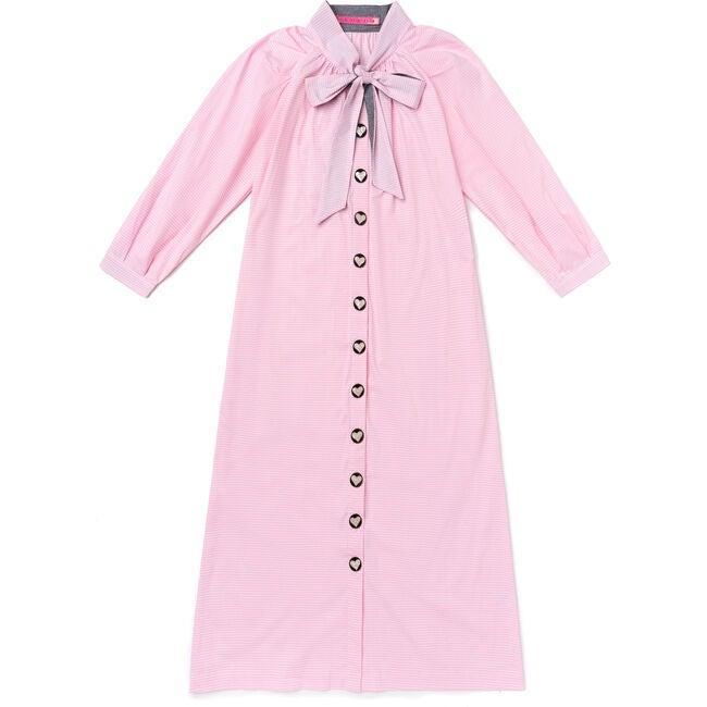 Women's Midi Dress, Pink Gingham