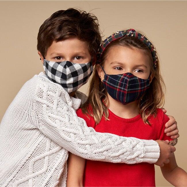 Set Of 2 Kids Face Masks, Tartan