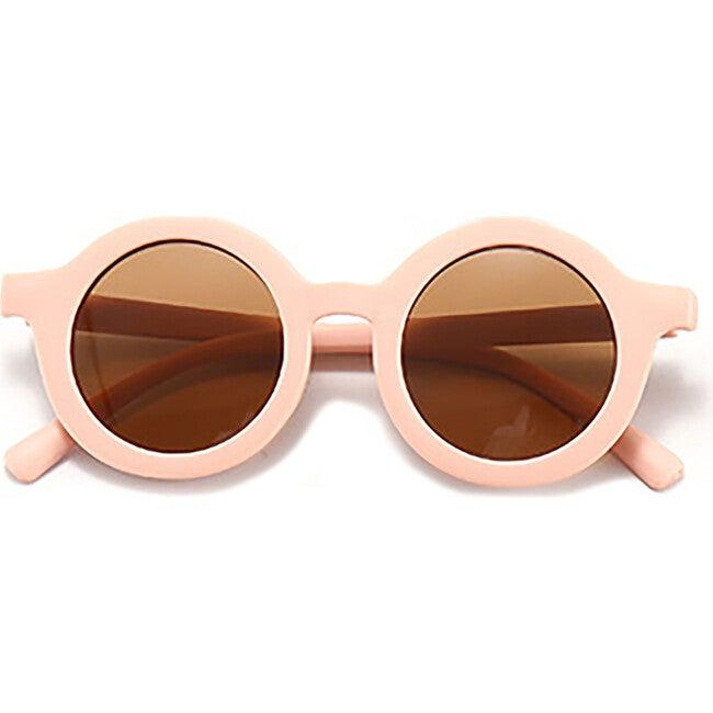 Round Retro Sunglasses, Soft Pink