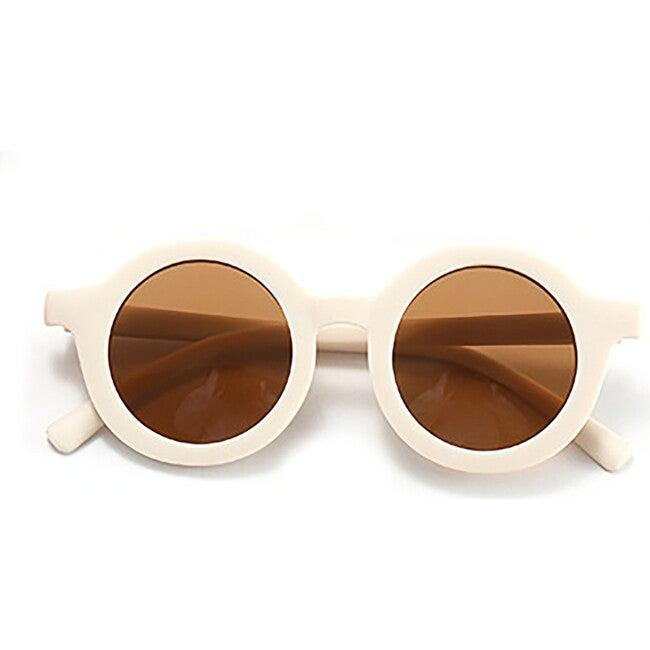 Round Retro Sunglasses, Sand Dollar