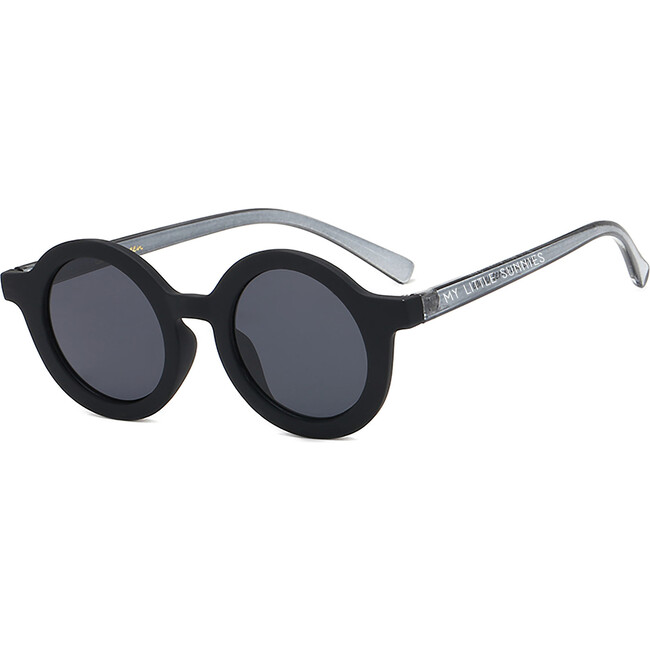 Round Retro Sunglasses, Outerspace Black