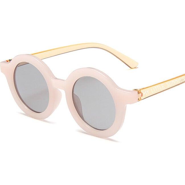 Round Retro Sunglasses, Pink Orange